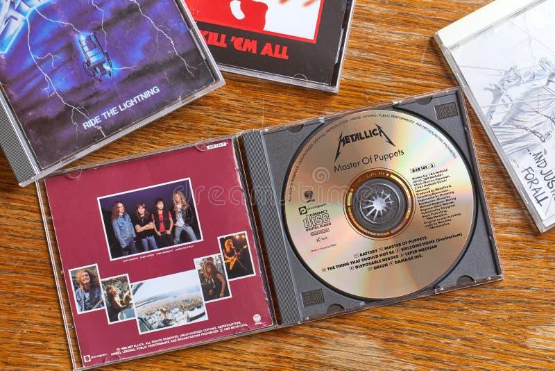 Mestre de Metallica dos fantoches e dos outros CD imagem de stock