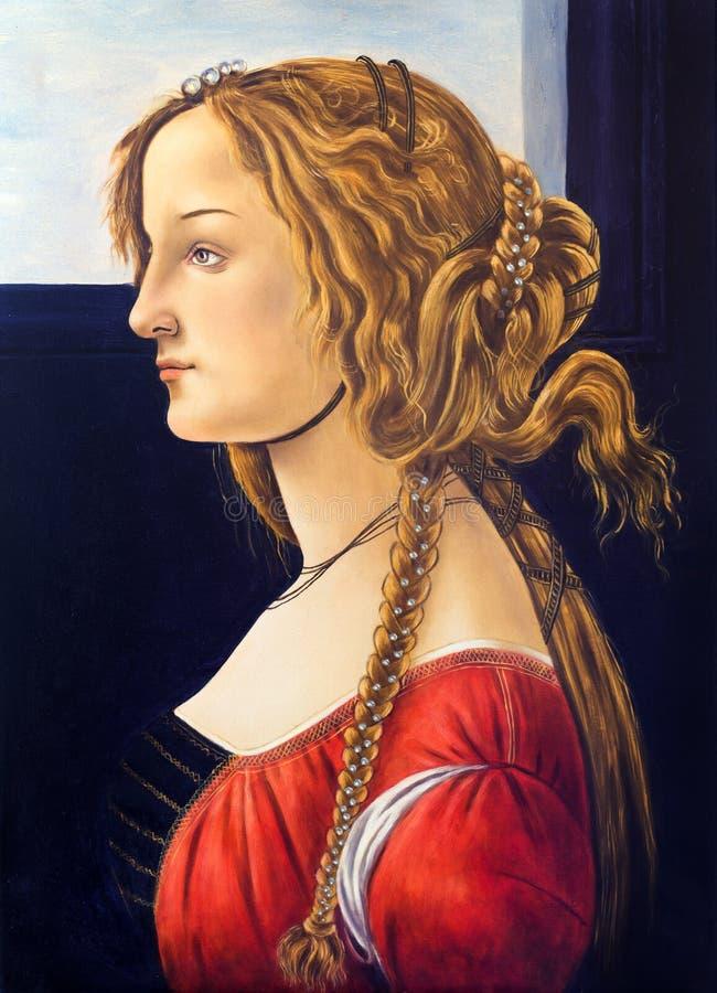 Mestre velho Sandro Botticell da pintura a óleo, pintura da reprodução foto de stock royalty free
