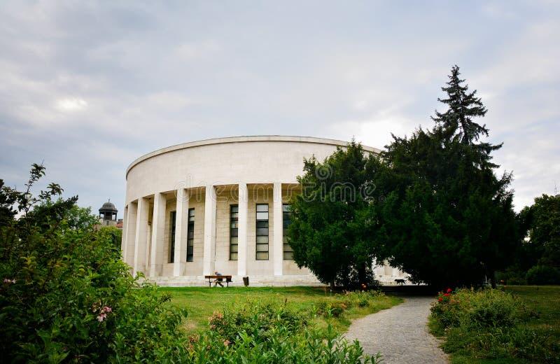 Mestrovic亭子大厦在萨格勒布 图库摄影