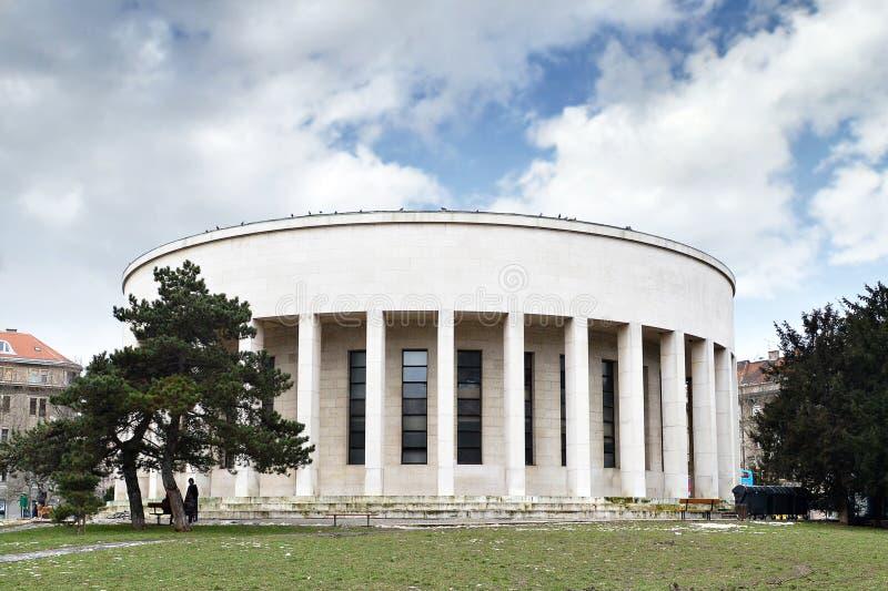 Mestrovic亭子,萨格勒布,克罗地亚 免版税库存图片