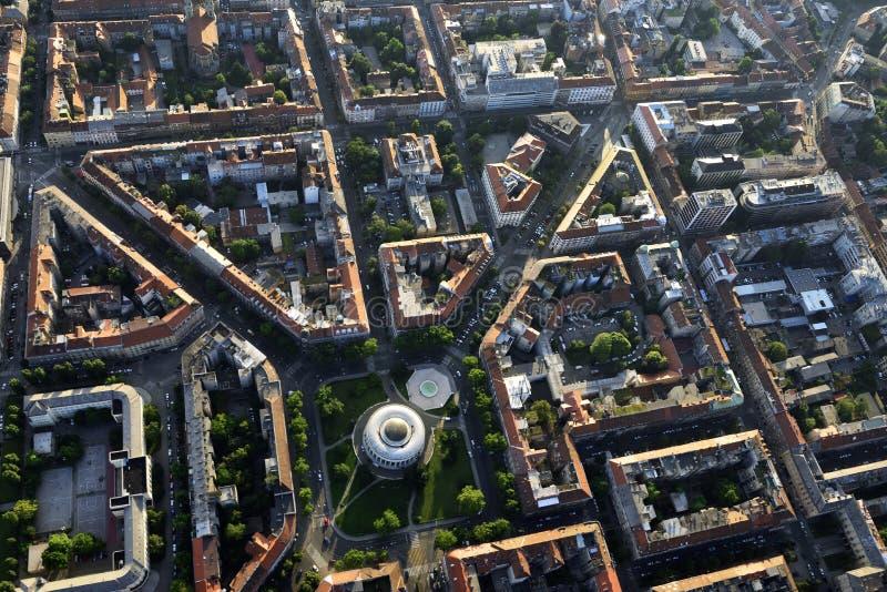 Mestrovic Pavillion, Zagreb, van lucht royalty-vrije stock foto's