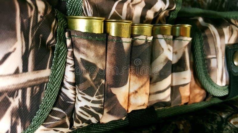 12 mesure, cartouchière des munitions photographie stock