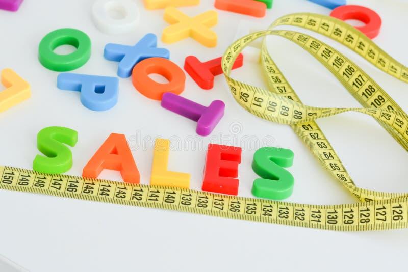 Mesure de concept de ventes photographie stock