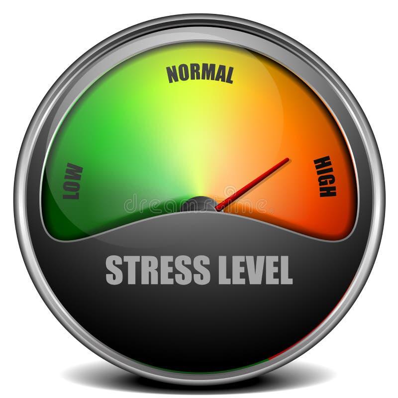 Mesure de mètre de niveau de stress illustration de vecteur