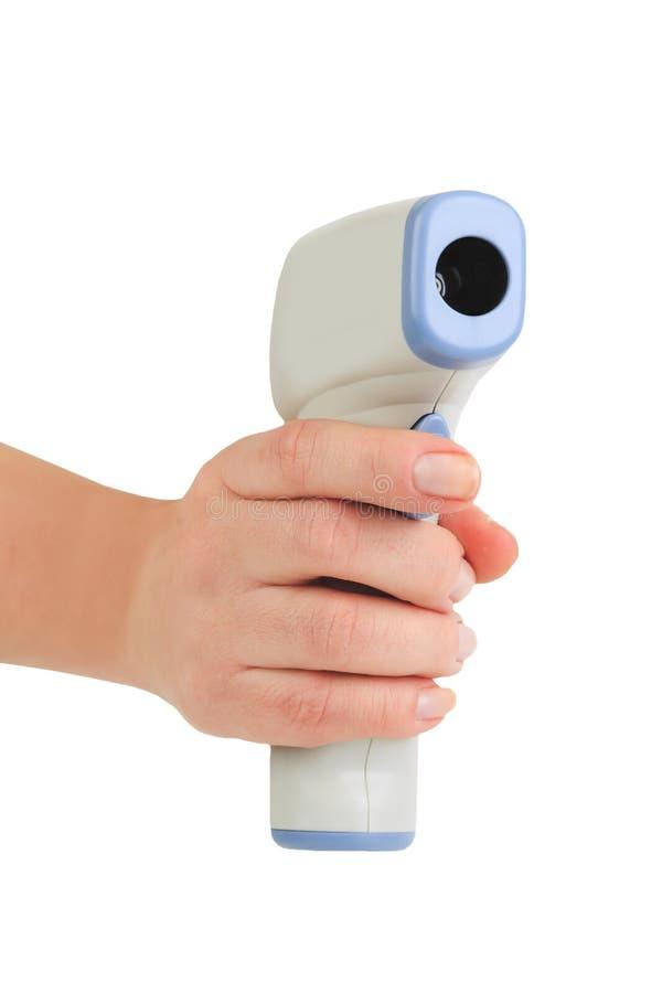 Mesure de non contact de la température image stock