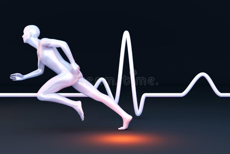 Mesure de physiologie illustration libre de droits