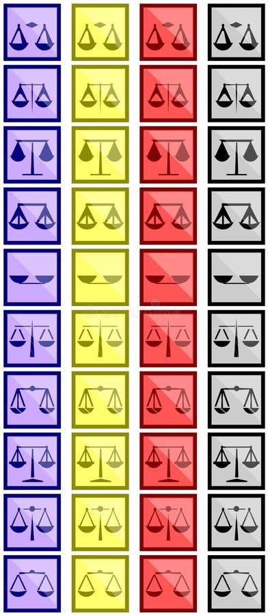 Mesure des icônes illustration stock