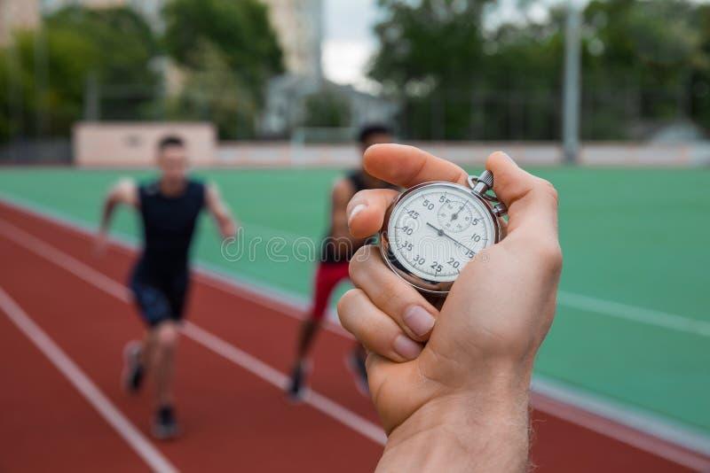 Mesure historique de temps de chronomètre photographie stock
