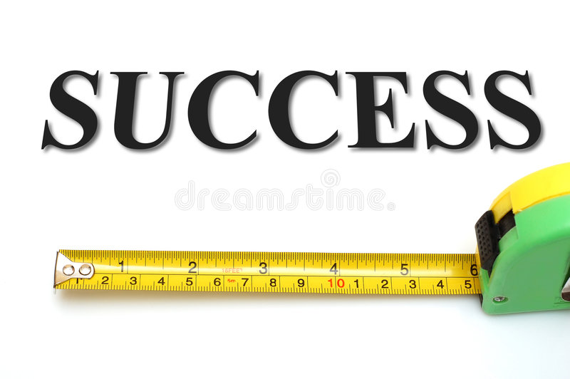 Mesure your success stock images