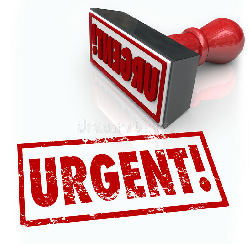 Mesures d'urgence immédiates de Word de timbre urgent requises illustration de vecteur