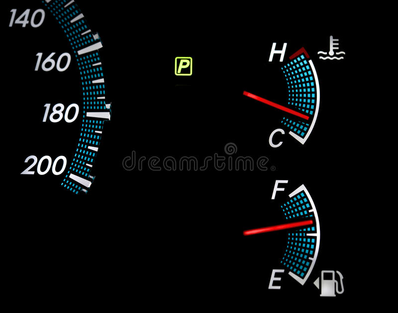 Mesures de gaz combustible image stock