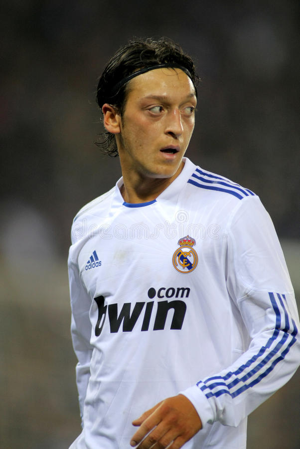 Mesut Ozil of Real Madrid. During a spanish league match between Espanyol and Real Madrid at the Estadi Cornella on February 13, 2011 in Barcelona, Spain royalty free stock photos