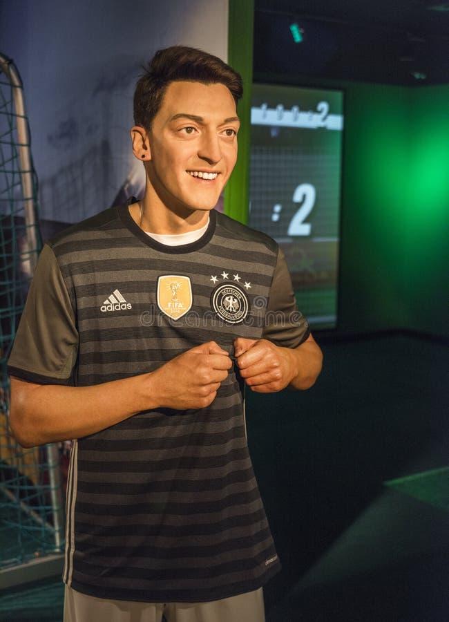 Mesut Ozil-Wachsfigur lizenzfreies stockfoto
