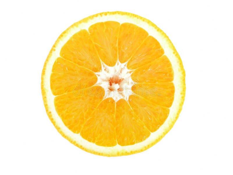 Metà arancione fotografia stock