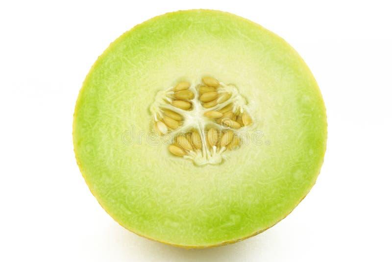 Metà del cantalupo giallo del melone immagine stock libera da diritti