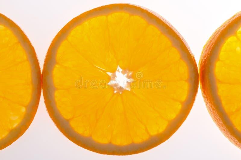 Metà dell'arancia immagine stock libera da diritti