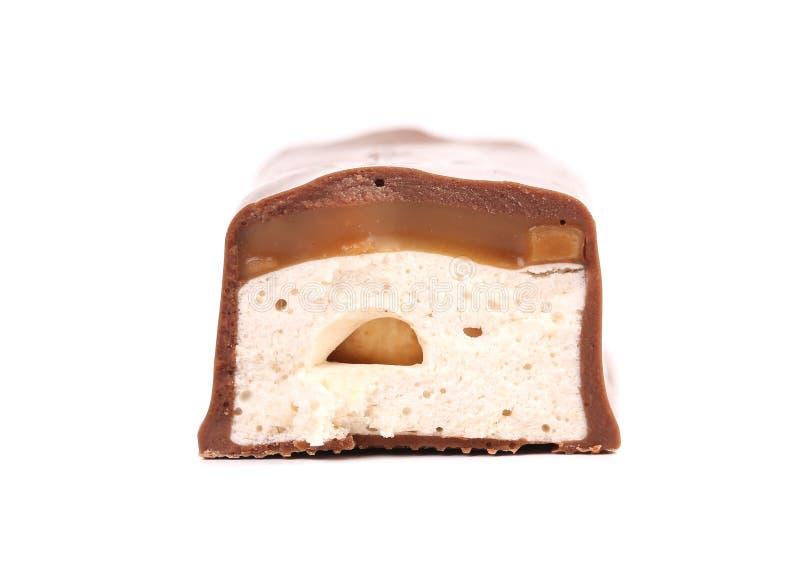 Metà di Antivari di cioccolato fotografie stock libere da diritti