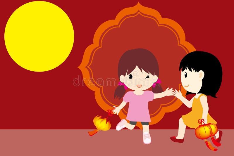 Metà di-Autunno tradizionale di festival royalty illustrazione gratis