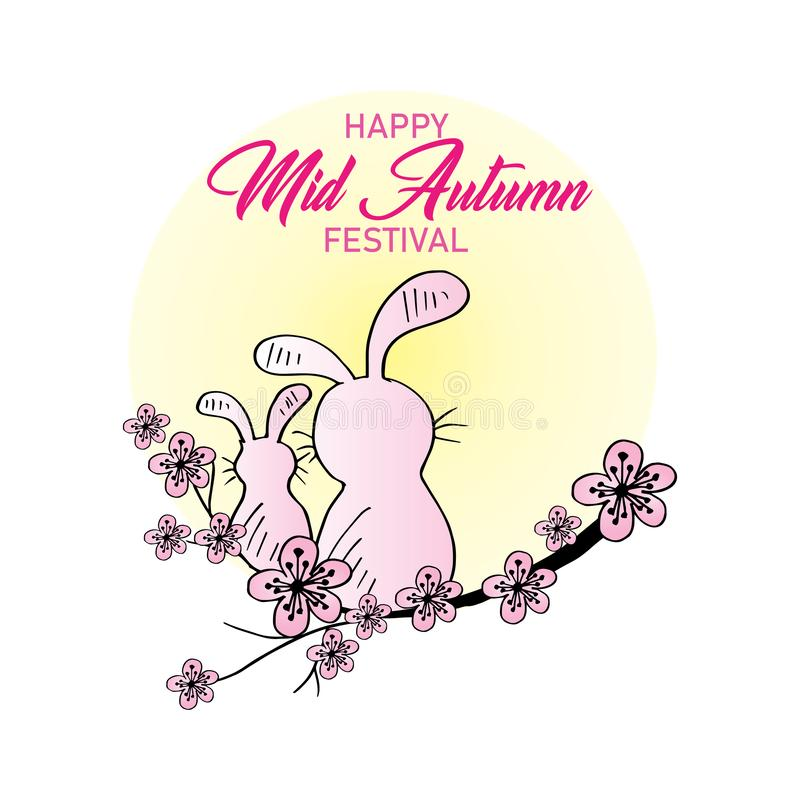 Metà di festival cinese di autunno royalty illustrazione gratis