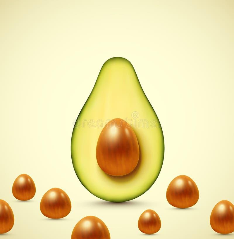 Metà di un avocado royalty illustrazione gratis