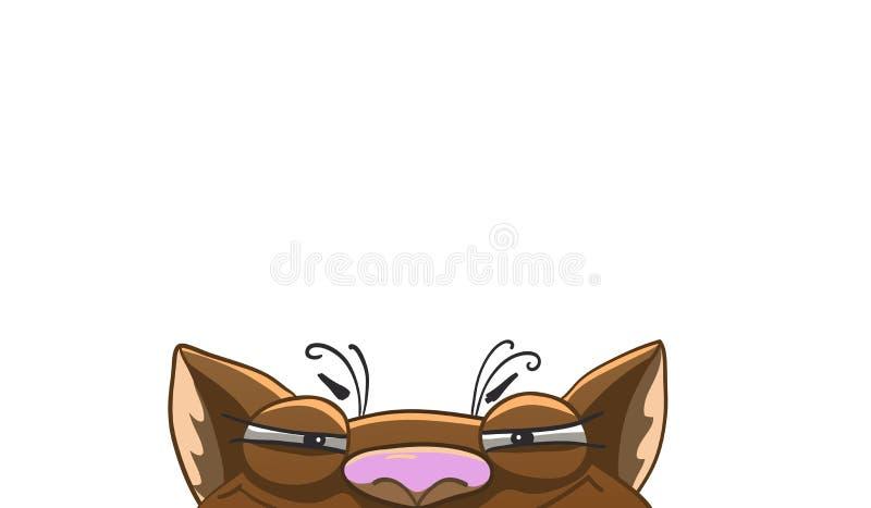 Metà ingannevole del ` s del gatto del fronte royalty illustrazione gratis