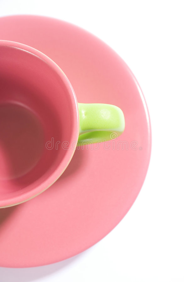 Metà un della tazza immagine stock
