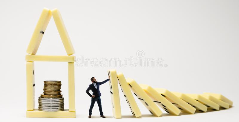 Metáfora da gestão de crise fotos de stock royalty free