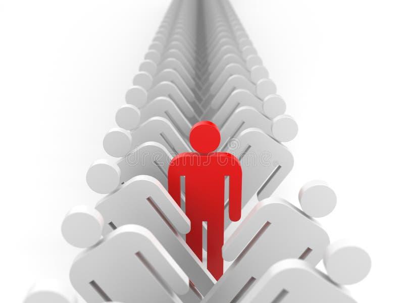 Metáfora da liderança ilustração stock
