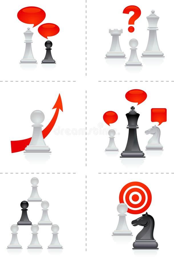 Metáfora da xadrez ilustração royalty free