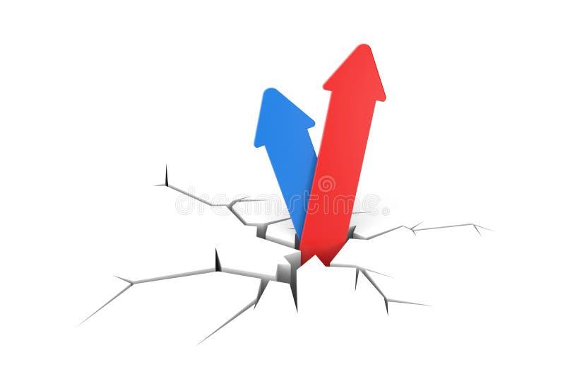Metáfora del éxito stock de ilustración