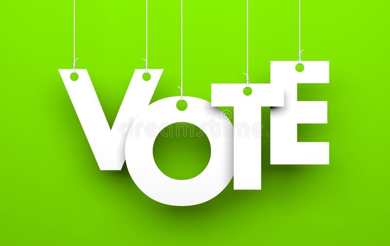 Metáfora del voto ilustración del vector