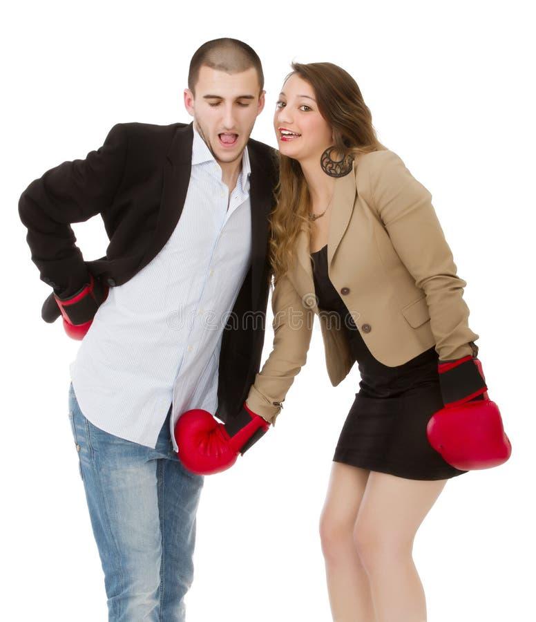 Metáfora do divórcio dos pares fotos de stock