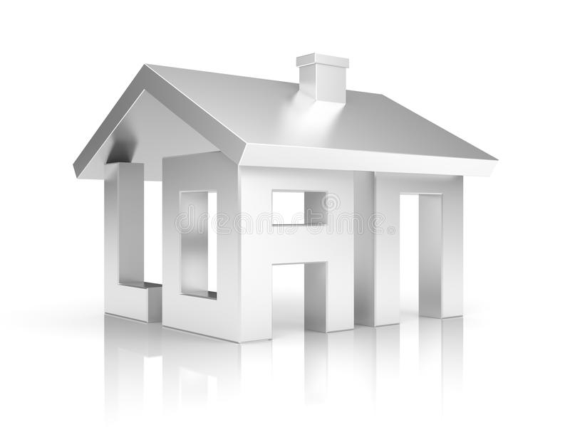 Metáfora do empréstimo ilustração royalty free