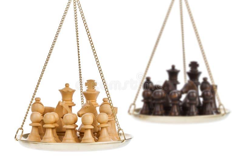 Metáfora do jogo de xadrez imagens de stock royalty free