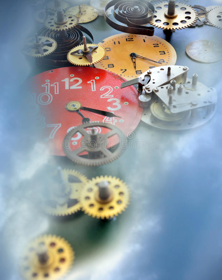 A metáfora do tempo fotos de stock