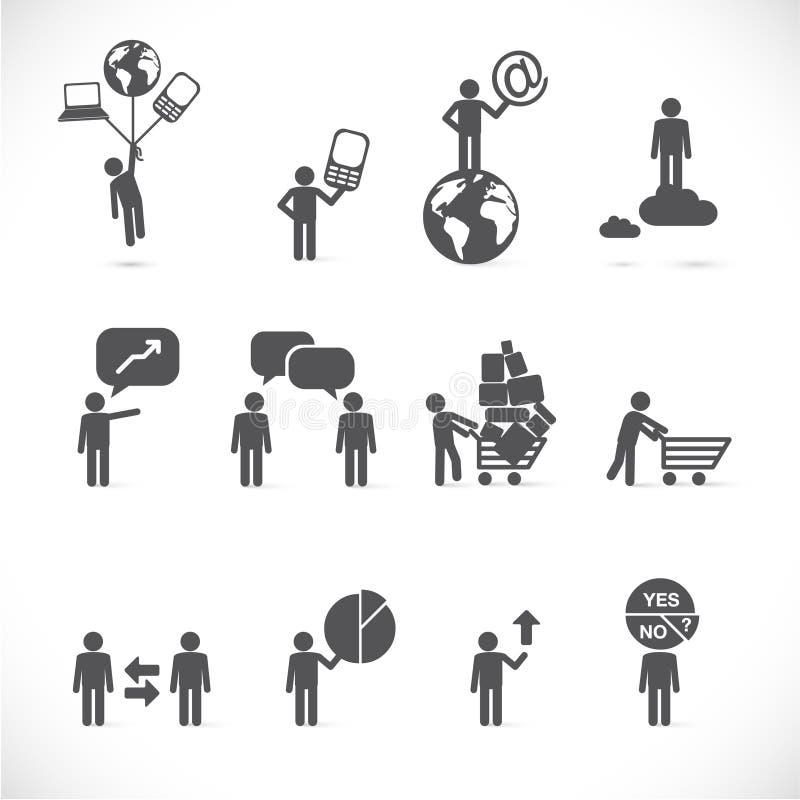 Metáforas del hombre de negocios libre illustration