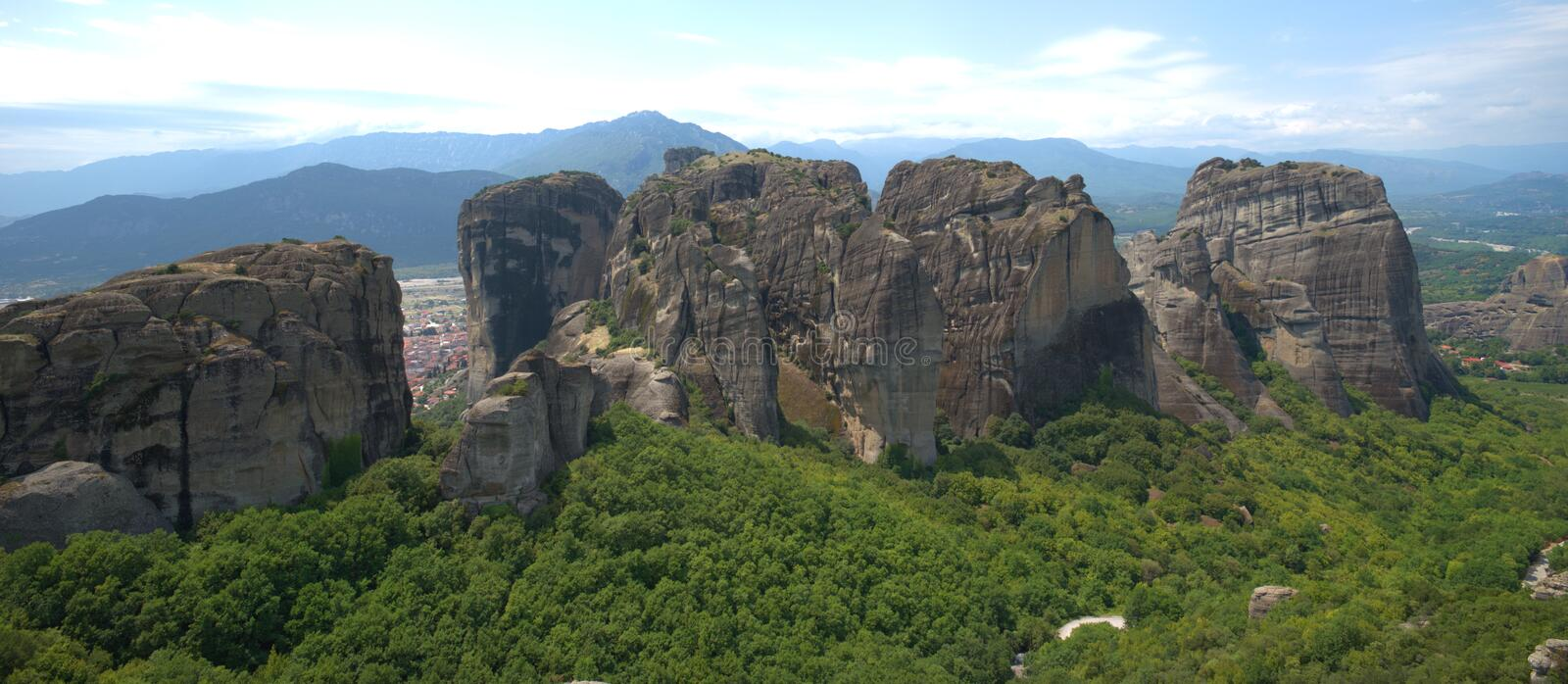 8/10/2020 Greece , Meteora . A unique phenomenon of huge rocks and Byzantine. Metéora is the second largest monastic and pilgrimage area in Greece after Mount royalty free stock photography