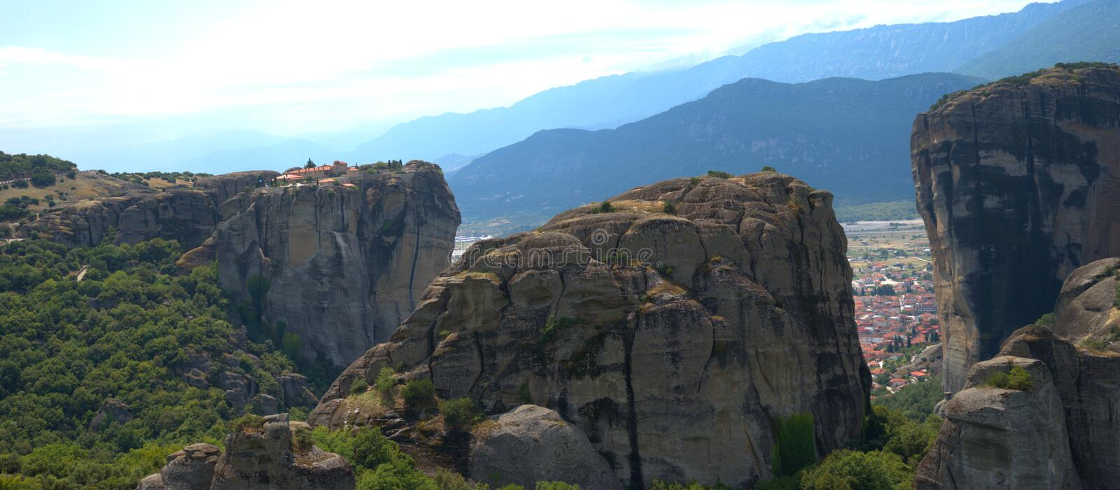 8/10/2020 Greece , Meteora . A unique phenomenon of huge rocks and Byzantine. Metéora is the second largest monastic and pilgrimage area in Greece after Mount royalty free stock images