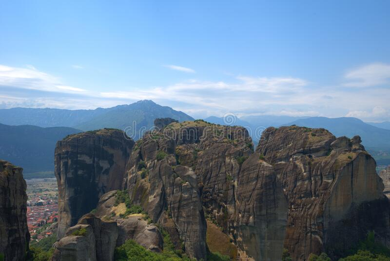 8/10/2020 Greece , Meteora . A unique phenomenon of huge rocks and Byzantine. Metéora is the second largest monastic and pilgrimage area in Greece after Mount stock images