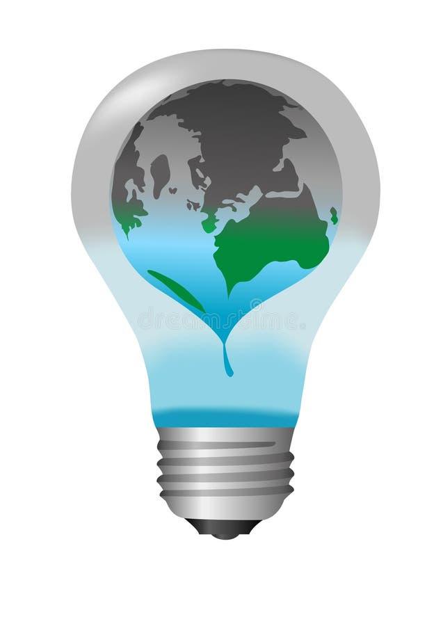 Met à la terre la crise énergétique illustration libre de droits