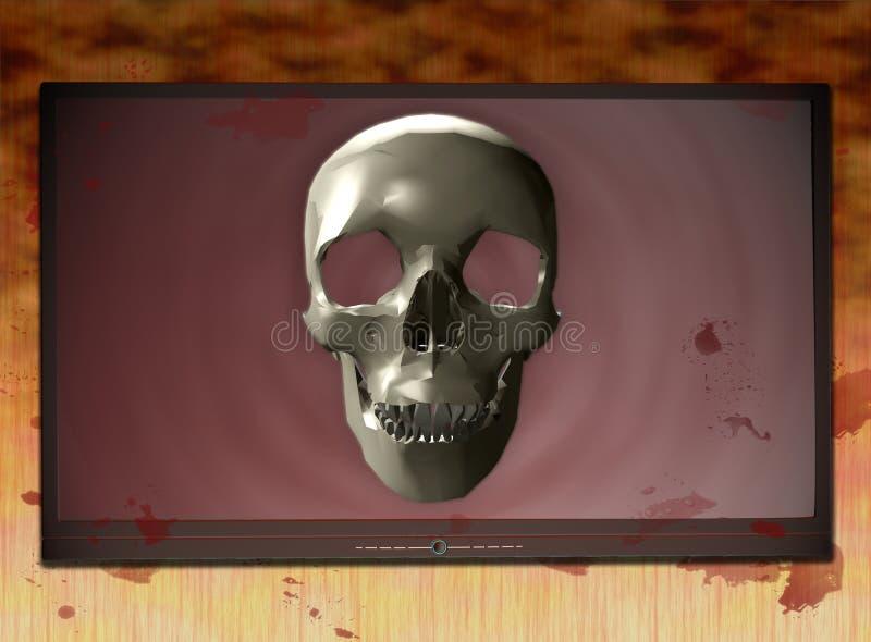 Met bloed bevlekte TV 4 vector illustratie