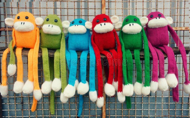 Met de hand gemaakt, aap, gelukkig nieuw jaar 2016, grappig dier royalty-vrije stock afbeelding