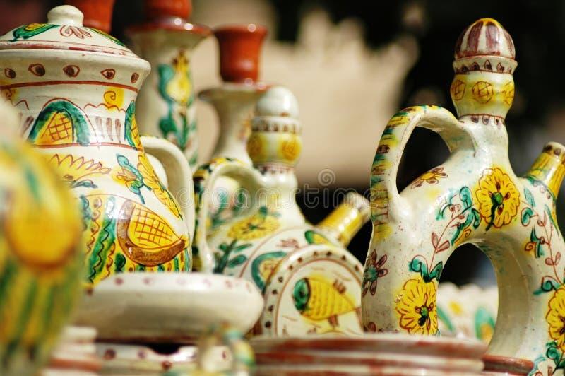 Met de hand gemaakt aardewerk. royalty-vrije stock afbeeldingen