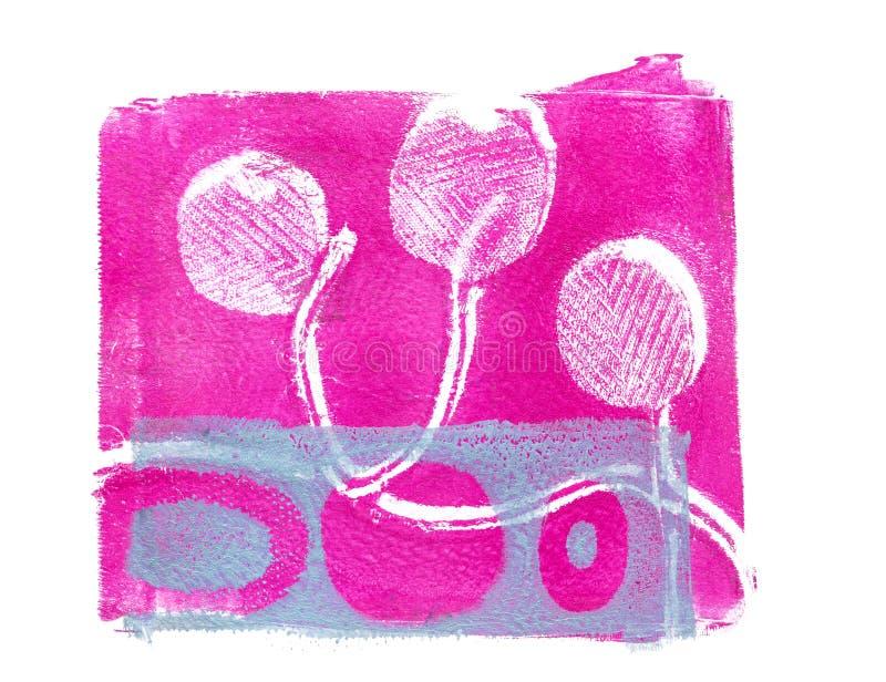 Met de hand gemaakt Abstract Acrylontwerp op Watercolour-Document Achtergrond vector illustratie