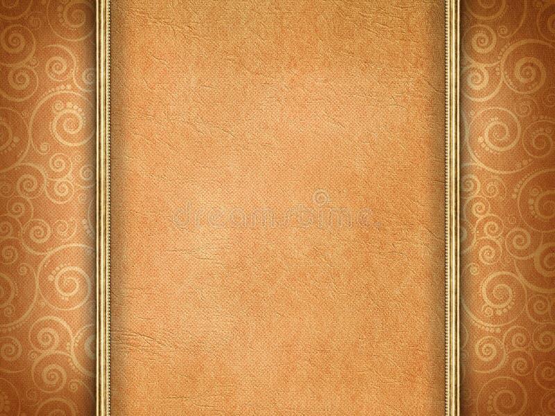 Met de hand gemaakt document op gevormde achtergrond vector illustratie