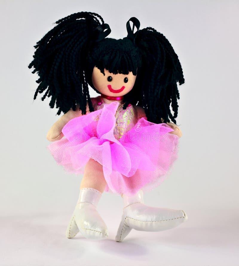 Met De Hand Gemaakt Doll Van Het Stuk Speelgoed In Roze Stock Afbeeldingen