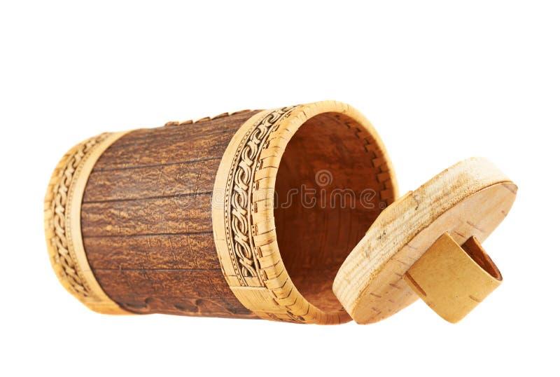 Met de hand gemaakt houten cilindrisch geval royalty-vrije stock foto