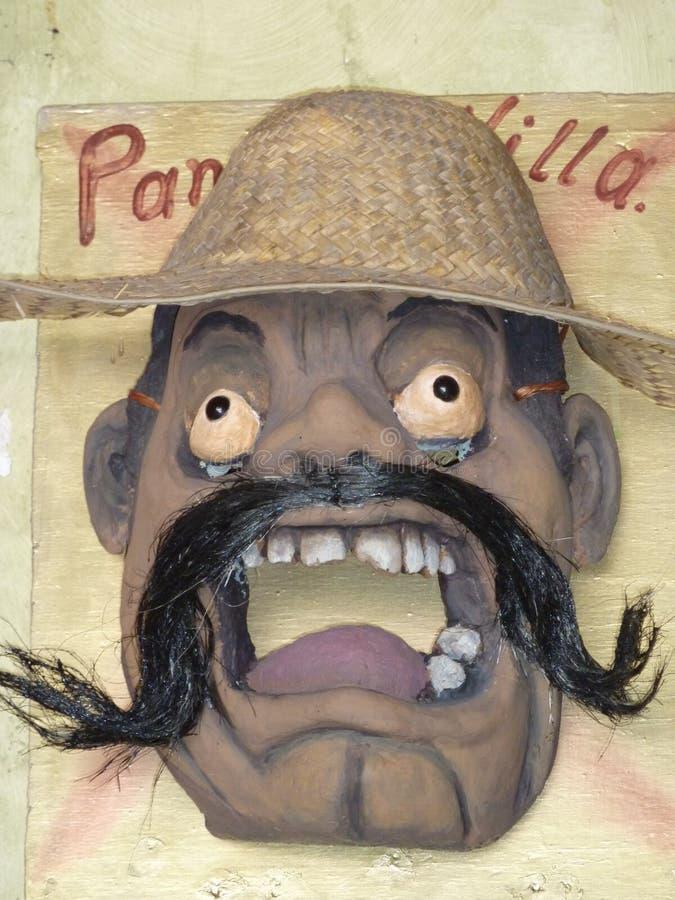Met de hand gemaakt masker van Pancho Villa stock foto's