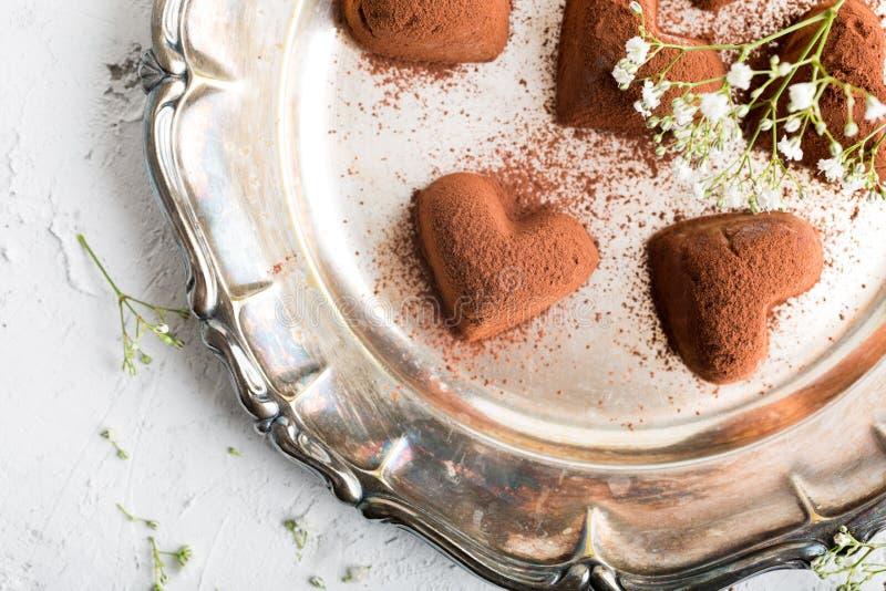 Met de hand gemaakt suikergoed Tiramisu stock afbeeldingen