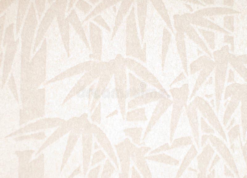 Met de hand gemaakt Witboek met bamboepatroon stock foto